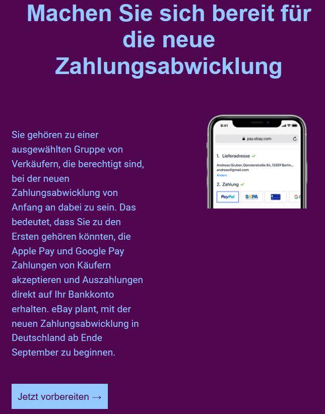 Ebay Zahlungsabwicklung