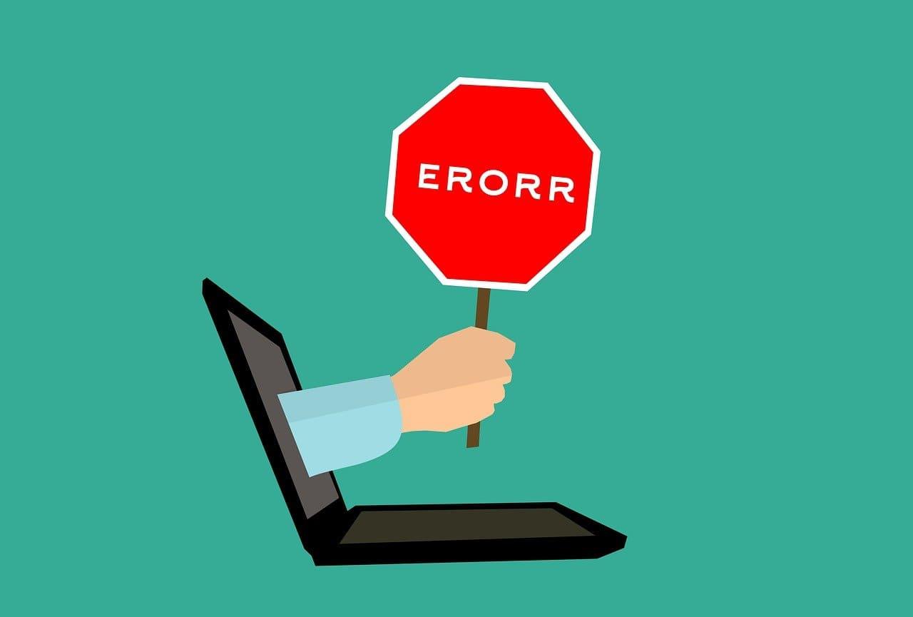 Fehler im Onlinehandel