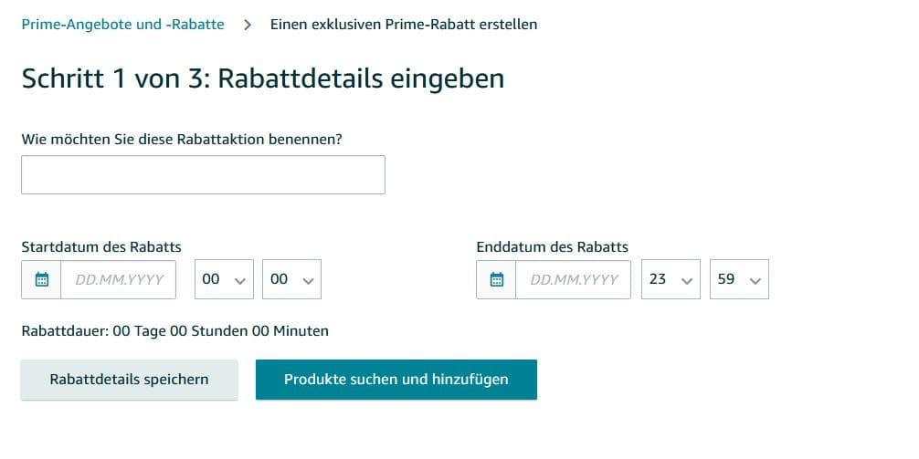Exklusiver Prime Rabatt auf Amazon einrichten