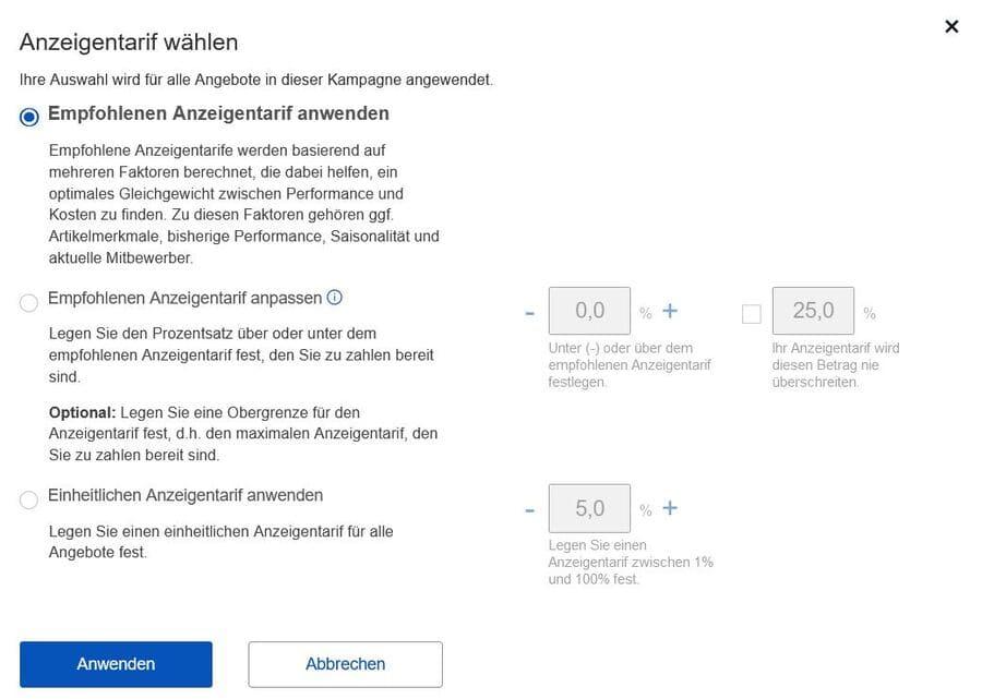 Ebay automatisierte Anzeigen
