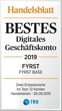 Kostenloses FYRST Geschäftskonto Testsieger