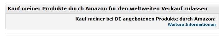 Amazon grenzüberschreitender Handel