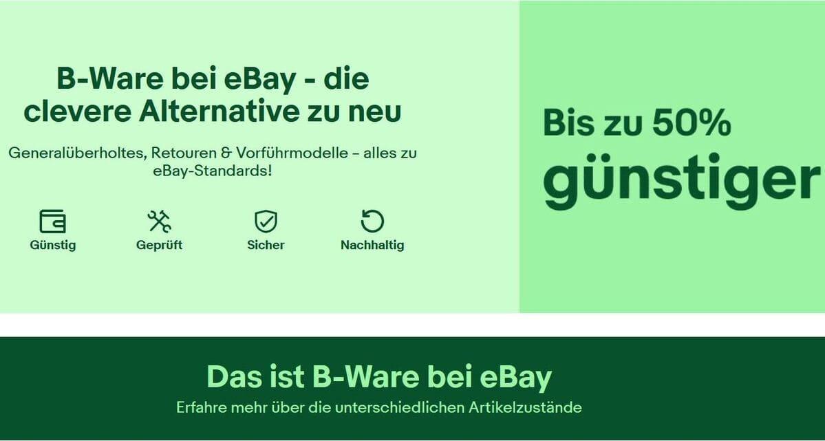 Ebay B- Ware- Center
